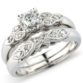 Brilliant Cut Fancy Solitaire with Matching Diamond Band