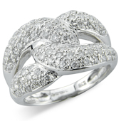 Chunky Pave Set Curb Links Ring