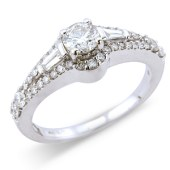Fancy Cut Diamond Solitaire Ring
