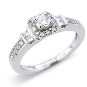 Vintage Style Fancy Set Diamond Solitaire