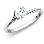 Diamond Solitaire on Twist Set Mount