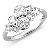 Diamond 'Rub' Set Scatter Ring (1ct)