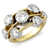 2-tone 'Rub' Set Diamond Scatter Ring (3.70ct)
