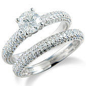 Brilliant Cut Solitaire with Pave Set Shank