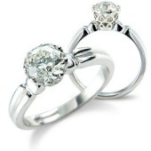 Brilliant Cut Solitaire in Edwardian Style Mount
